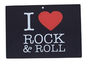 Placa Vintage I Love Rock and Roll