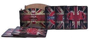 Porta Copo Londres Soldados