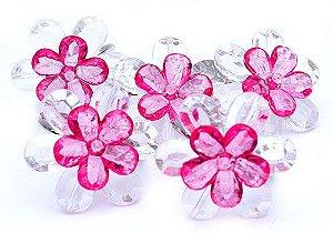 Porta Guardanapo Flores Pink