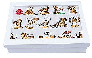 Porta Joia com Tecido Garfield Grande
