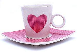 Jogo de Café  Corações