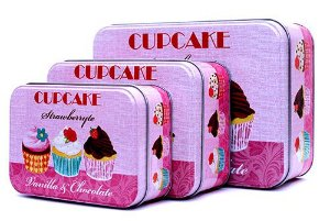 Trio de Latas Cupcake