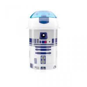 Garrafa Canudo Retrátil Star Wars R2D2