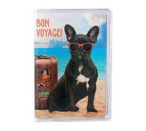 Porta Passaporte Bulldog