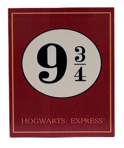 Placa Harry Potter 9 3/4