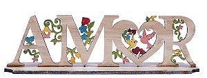 Palavra Decorativa em Madeira Amor