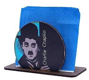 Porta Guardanapo Redondo Charlie Chaplin