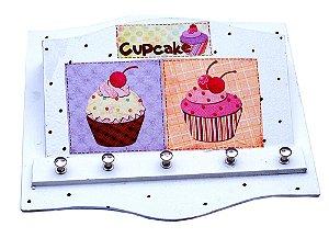 Porta Chaves e Porta Correspondência Cupcake