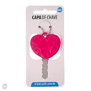 Capa de Chave Coração Rosa