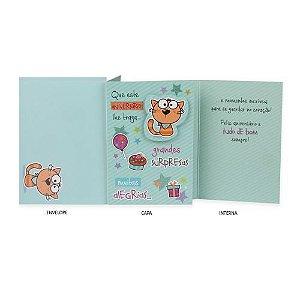 Cartão de Aniversário Gato
