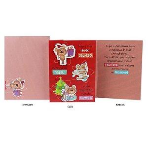 Cartão de Natal Amigo Secreto Ursinhos G