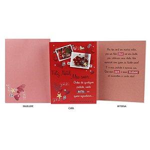 Cartão de Natal Amigo Secreto Luvas G