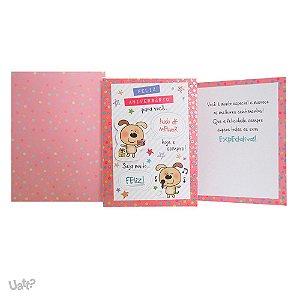 Cartão De Aniversário Cãozinhos G