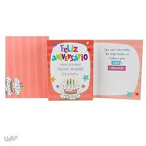 Cartão De aniversário Bolo Com Velas G