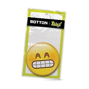 Botton Emoticon - Super Feliz