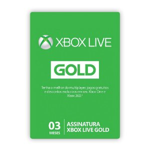 Cartão Xbox Live Gold - 3 Meses