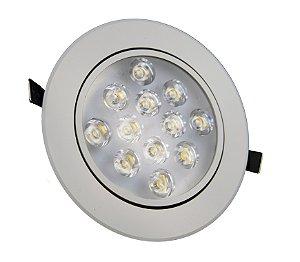 Spot de LED 12W Redondo Branco Frio  Bivolt