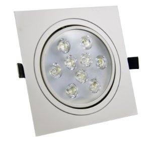 Spot de LED  9W Quadrado Branco Quente 1 ano de garantia