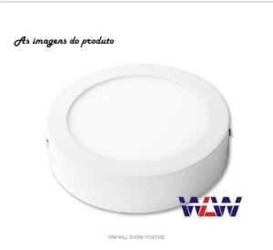 Painel Sobrepor 12W Redondo branco quente 1020Lm Irc:80
