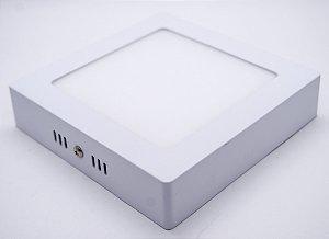 Painel 12W Sobrepor Quadrado Branco Quente