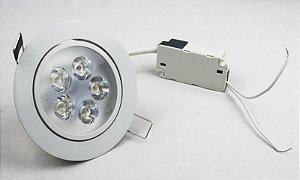 Spot de LED  5W Redondo Branco Quente