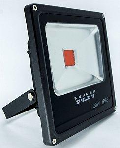 Refletor De LED 20W luz Vermelha IP66