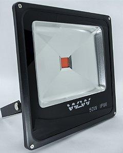 Refletor de LED 50w Luz Vermelha IP66