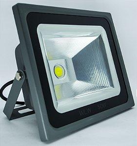Refletor De LED 50w 6500k Chip:Bridgelux  IRC 80 110LM/W S (2 ANOS DE GARANTIA)