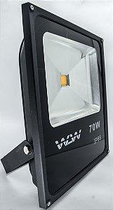 Refletor de LED 70W Luz Amarela Ambar
