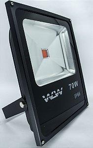 Refletor De LED 70w Luz Vermelha IP66