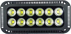 Refletor de LED 600W 6500K Branco Frio Bivolt 1 ano de garantia