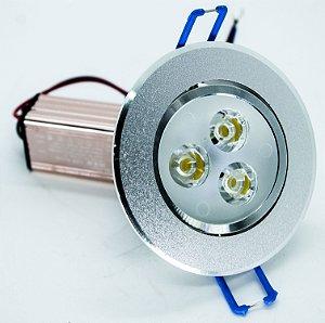 SPOT de LED 3W Redondo 6000K Branco Frio BIVOLT