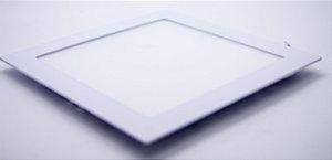 Plafon Painel de LED 18W Embutir Quadrado branco frio Bivolt