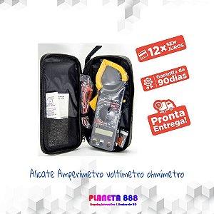 Alicate Amperímetro-voltímetro-ohmímetro WLW DT-266