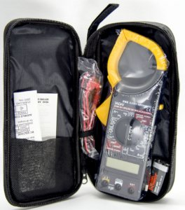kit 5 uni. Alicate Amperímetro-voltímetro-ohmímetro WLW DT-266