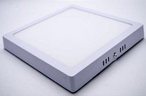 Painel Plafon LED 24w Sobrepor Branco Frio Quadrado