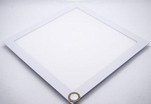 Painel Plafon LED 24W Embutir Quadrado Branco Frio