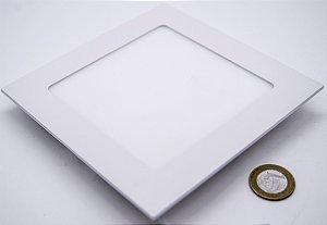 Painel Plafon Embutido 9W QUADRADO Branco Quente