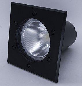 EMBUTIDO SOLO JET BLACK QUADRADO 12W 950LM 6500K 85-240V