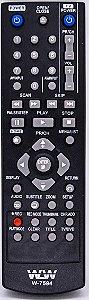 Controle remoto para DVD LG C/GRAVADOR wlw-7594