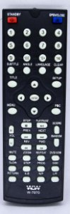 Controle Remoto De Dvd Lenoxx WLW-7970