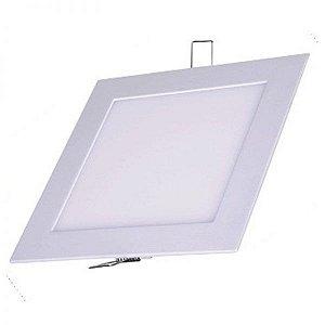 Plafon Painel de LED EMBUTIR LED 18W Quadrado Branco Quente