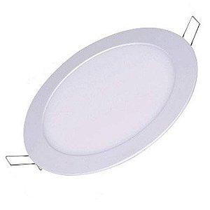 Plafon Painel DE LED  EMBUTIR REDONDO 12W Branco Frio