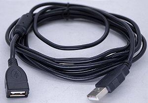 Cabo Usb 2.0 Macho X Fêmea Com filtro 3MT USB-AG-AM-3M