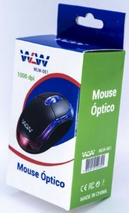 Mouse Usb Hard Line Fm-04 Optico Preto Box WLW-001