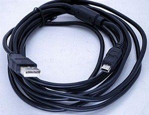 Kit 10un Cabo V3 10MT Passa Dados Com Filtro USB-V3-10M