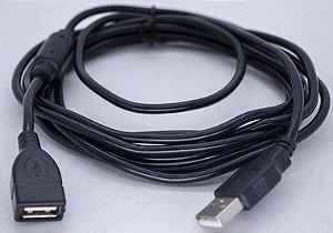 Kit 10un Cabo Usb 2.0 Macho X Fêmea filtro 3MT USB-AG-AM-3M