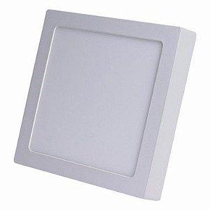 Kit 3un Plafon PAINEL LED SOBREPOR Quadrado 25W  Bran. frio