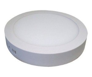 Kit 4un Plafon Painel LED sobrepor Redondo 25w Branco Frio