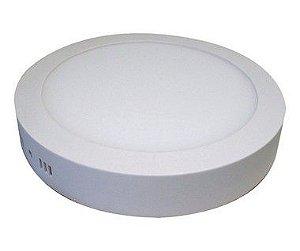 Kit 7un Plafon Painel LED sobrepor Redondo 25w Branco Frio